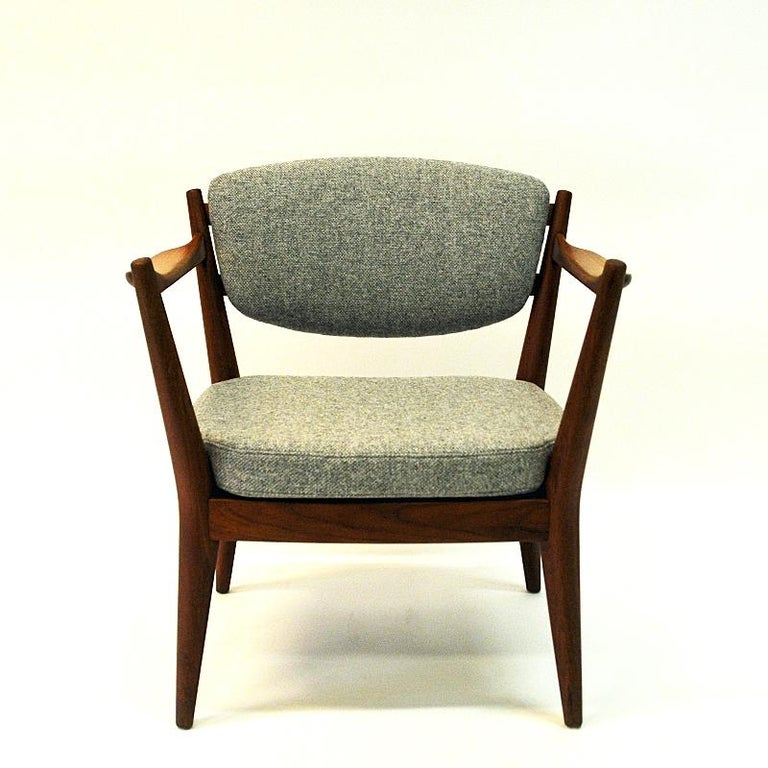 Teak Pair of the Kamin Chair by Kayser & Relling, Norway, 1950s For Sale 1