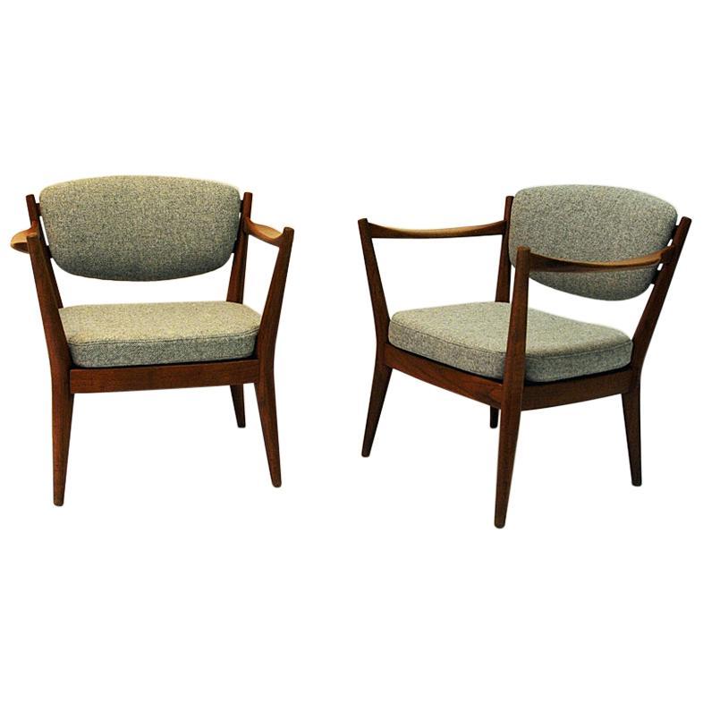 Teak Pair of the Kamin Chair by Kayser & Relling, Norway, 1950s