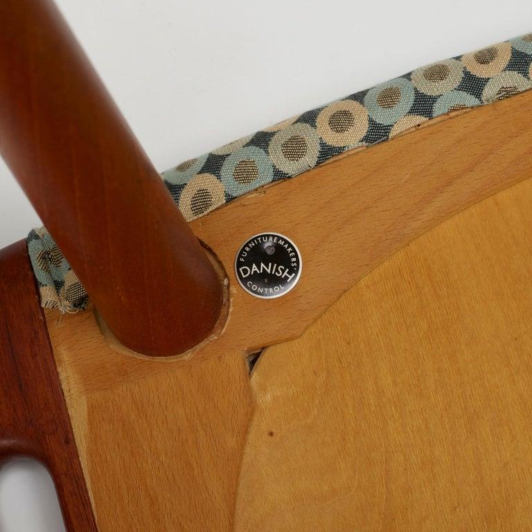 Mid-Century Modern Teak ''Papa Bear'' Chair and Ottoman by Hans J. Wegner for A.P. Stolen For Sale