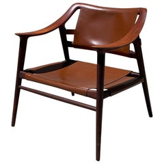 "Teak Rastad and Relling ""Bambi"" Lounge Chair with Leather"
