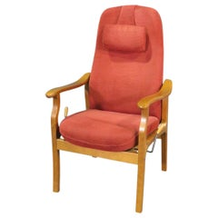 Teak Reclining Chair by Hjellegjerde Møbler