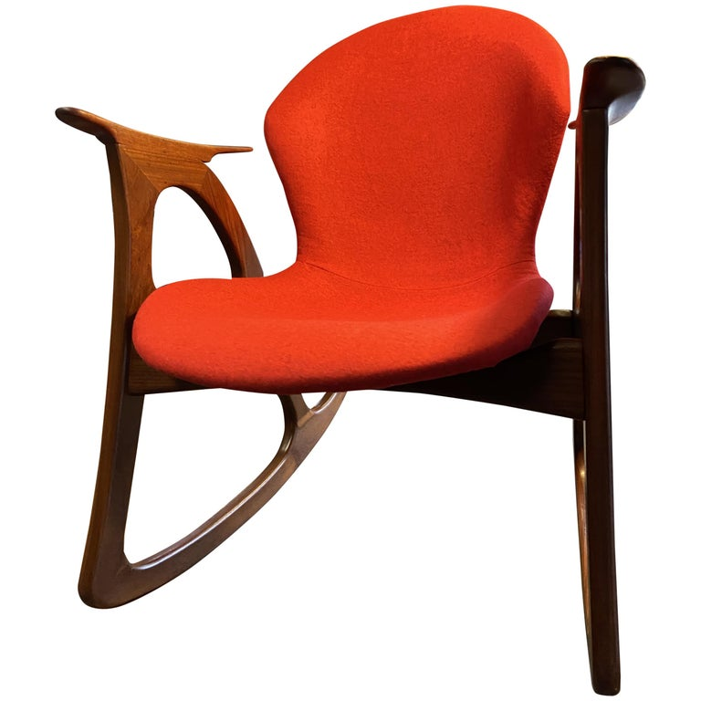 Teak Rocking Chair by Aage Christiansen For Sale