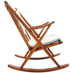 Teak Rocking Chair by Frank Reenskaug for Bramin Møbler