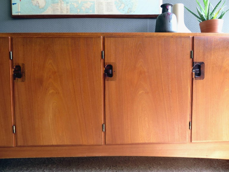 20th Century Teak X-Large Vintage Sideboard by a/S Randers Denmark Mid-Century Modern, 1960s For Sale