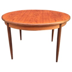 Teak Round/ OVAL Table with Pop Up Leaf G Plan