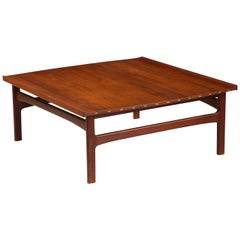 Teak Scandinavian Modern Coffee Table, Denmark 1960s