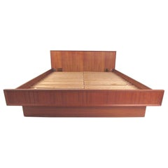Teak Scandinavian Modern Queen Size Bed
