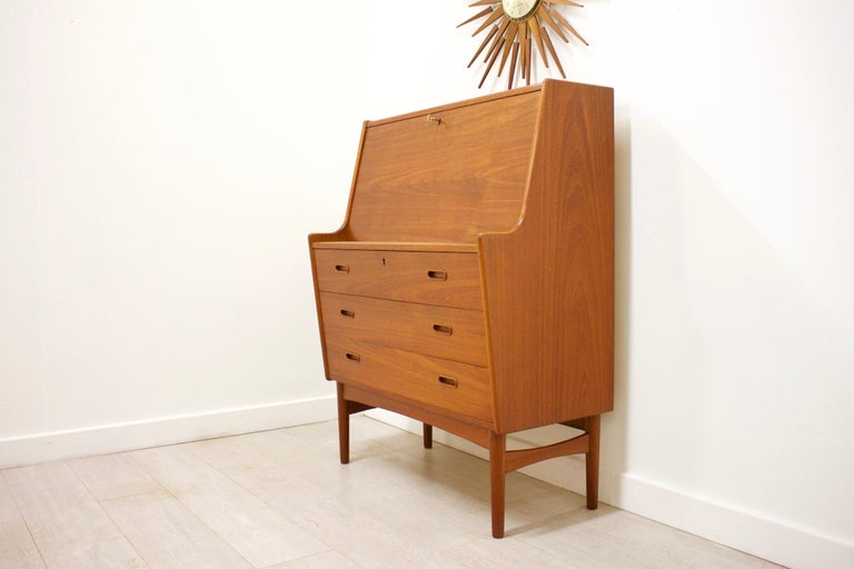 - Midcentury Danish writing cabinet