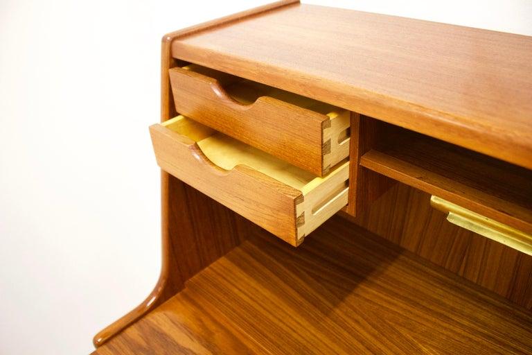 Woodwork Teak Secretaire by Arne Wahl Iversen for Vinde Møbelfabrik, 1960s