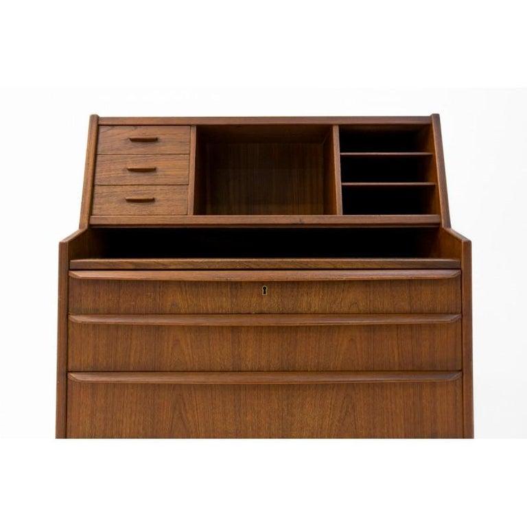Danish Teak Secretary Desk, Scandinavian Modern, Skrillinge Møbelfabrik, 1960s For Sale