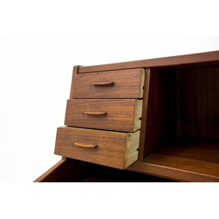 Mid-20th Century Teak Secretary Desk, Scandinavian Modern, Skrillinge Møbelfabrik, 1960s For Sale