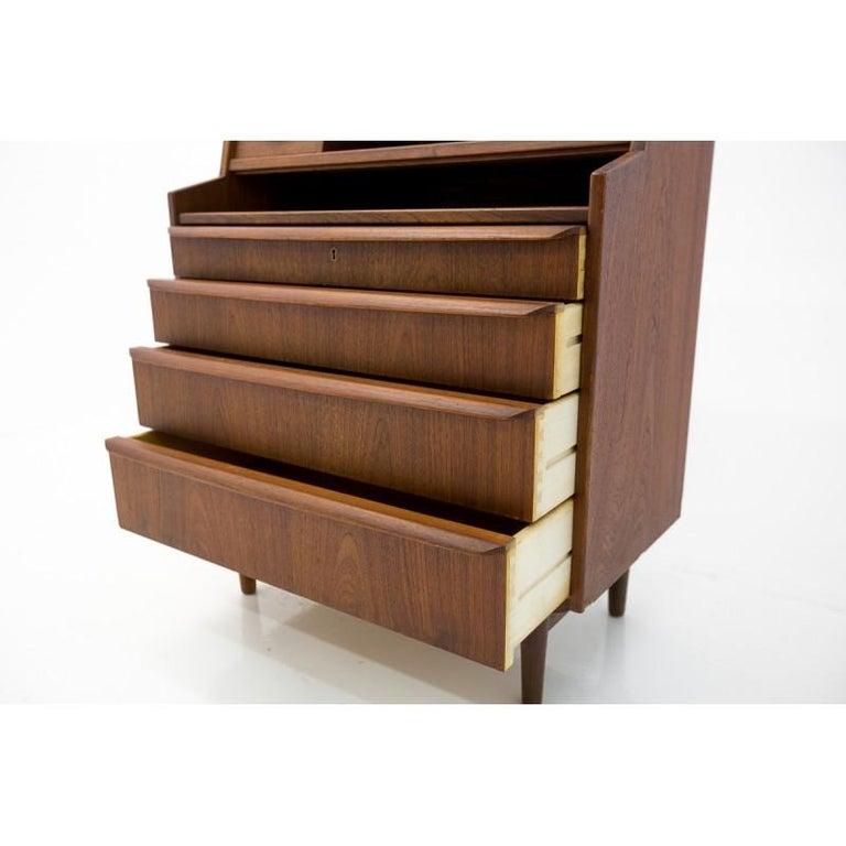 Teak Secretary Desk, Scandinavian Modern, Skrillinge Møbelfabrik, 1960s For Sale 3