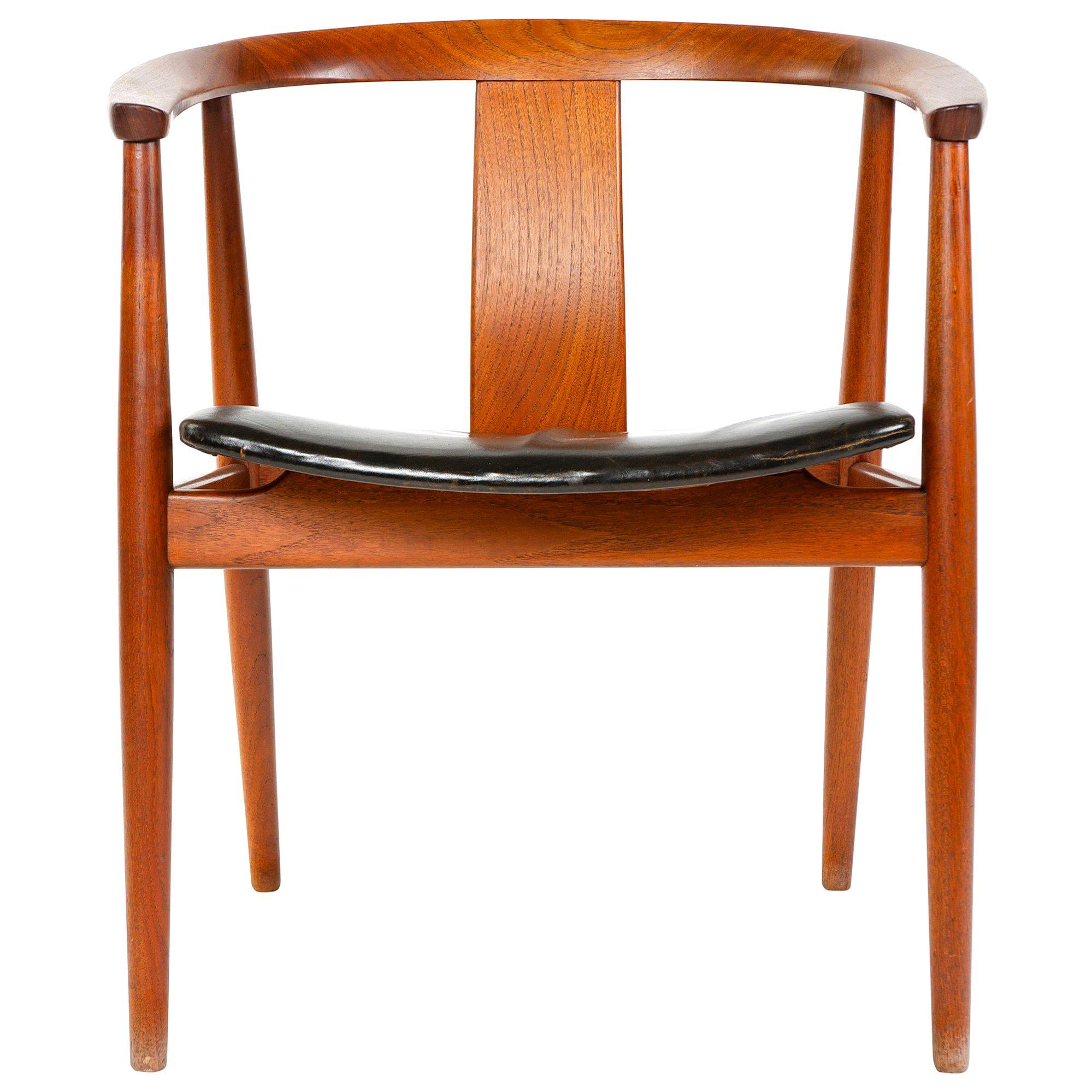 Teak Side Chair by Tove & Edvard Kindt-Larsen