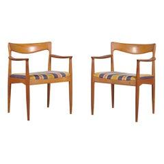 Teak Side Chairs by Arne Vodder for Vamo, 1960s, Set of 2