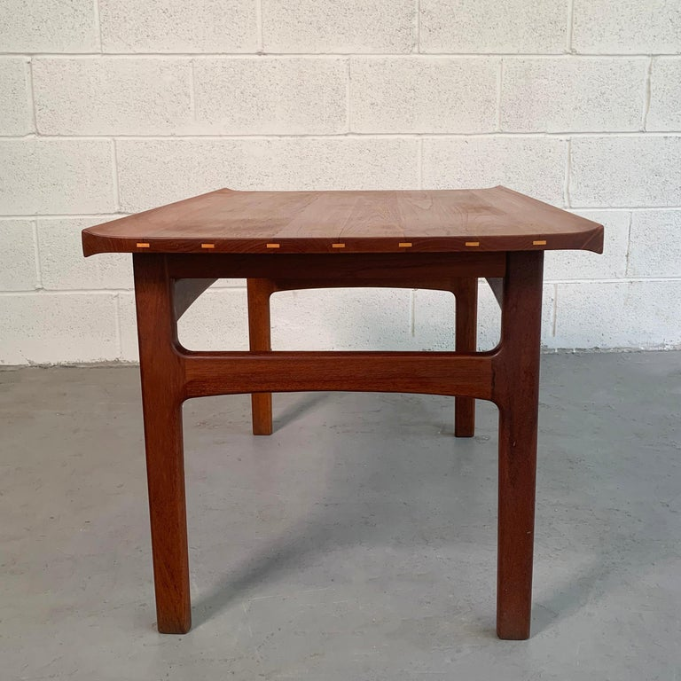 Teak Side Table by Tove & Edvard Kindt-Larsen for DUX In Good Condition For Sale In Brooklyn, NY