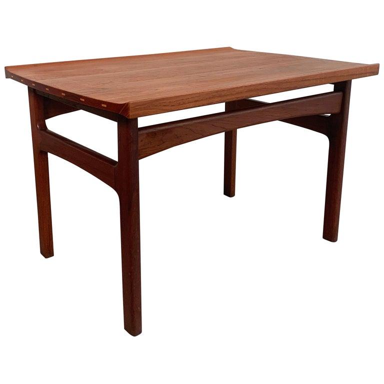 Teak Side Table by Tove & Edvard Kindt-Larsen for DUX For Sale