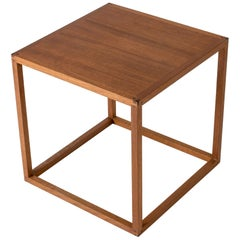 Teak Side Table from HI-Gruppen, Executed by Lars Larsson, Sweden, 1960s