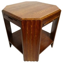 Teak Side Table with Extending Tops, 1970s