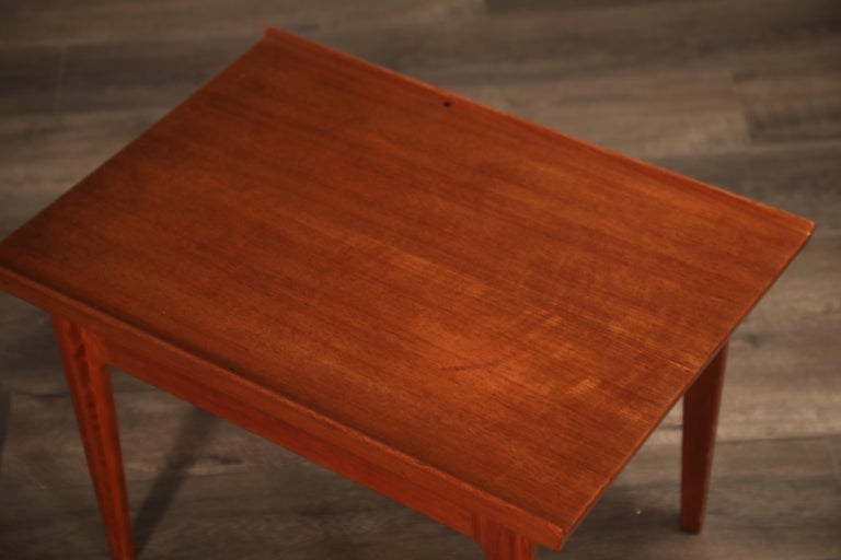 Teak Side Tables by Finn Juhl for France & Son, Denmark 1960s, Three Available For Sale 3