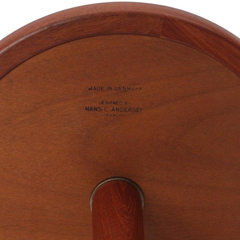 Danish Scandinavian Modern Teak Side Table by Hans C. Andersen For Sale