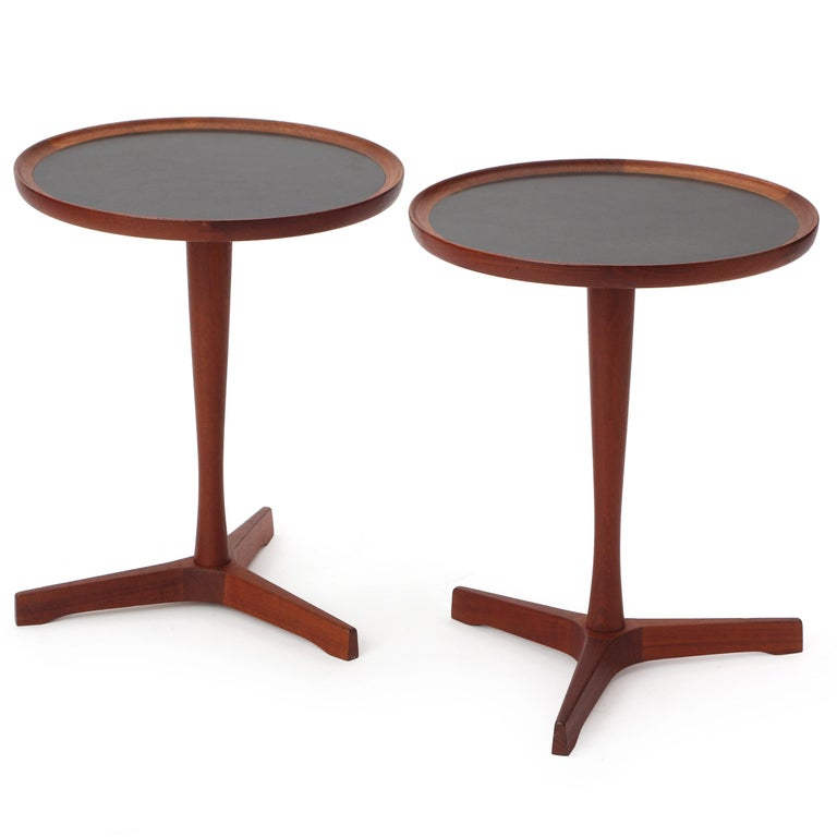 Scandinavian Modern Teak Side Table by Hans C. Andersen In Good Condition For Sale In New York, NY