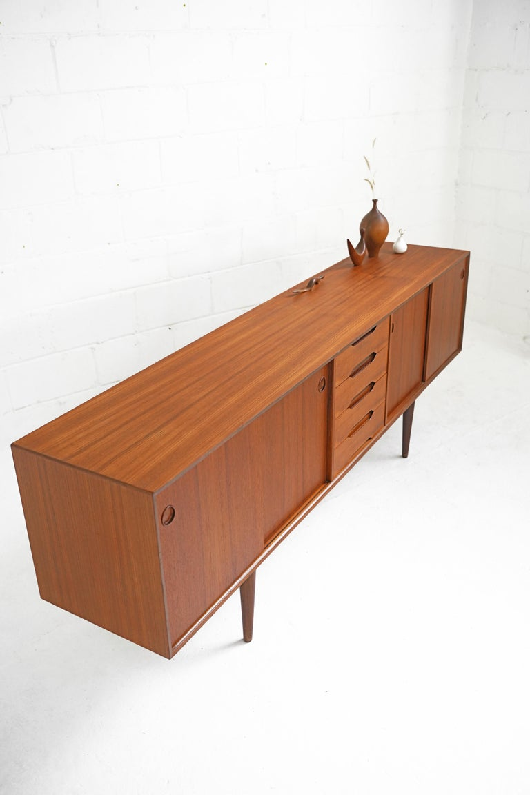 Teak Sideboard by Fredrik Kayser for Gustav Bahus For Sale 10