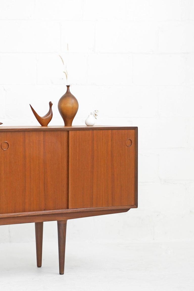 Teak Sideboard by Fredrik Kayser for Gustav Bahus In Good Condition For Sale In TORONTO, CA