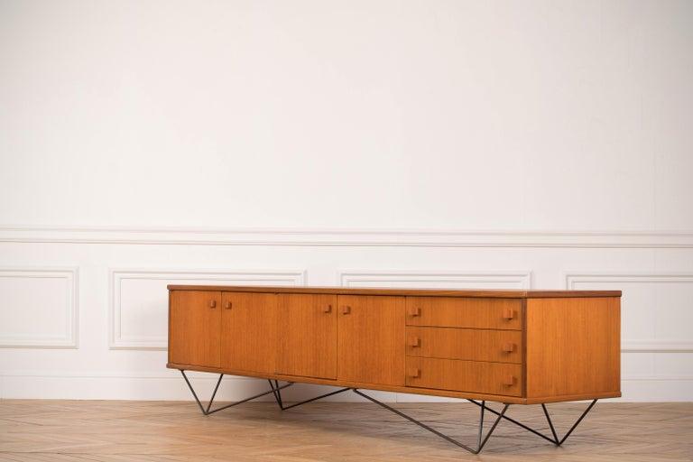 Mid-Century Modern Teak Sideboard, Minimalist, 1960s For Sale
