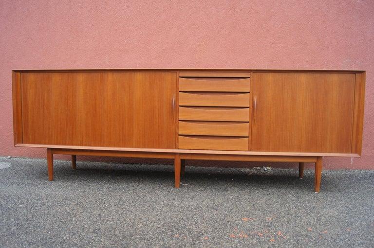 Mid-Century Modern Teak Sideboard, Model 76, by Arne Vodder for Sibast For Sale