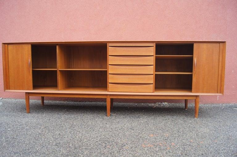 Danish Teak Sideboard, Model 76, by Arne Vodder for Sibast For Sale