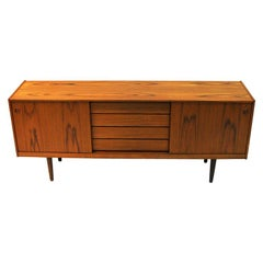 Teak Sideboard with Beautiful Patterns by Gustav Bahus, 1960s, Norway
