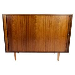 Teak Sideboard with Tambour Doors, Denmark 1960-1970