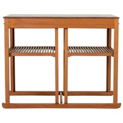 "Teak ""Sladen"" ""The Sled"" Nesting Table by Carl Malmsten, Sweden"