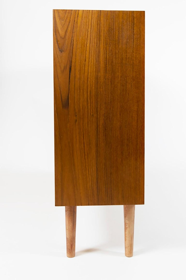 Teak Slide Door Cabinet, Made in Denmark, 1960s For Sale 2