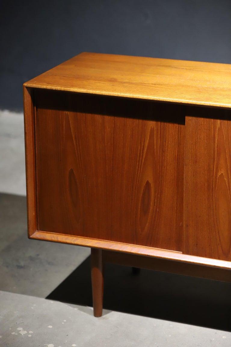Teak Swedish Credenza or Sideboard For Sale 11