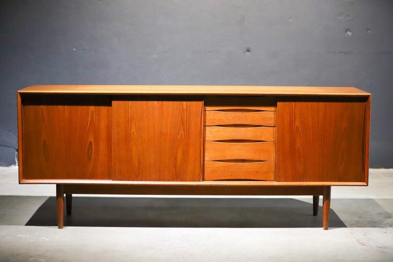 Teak Swedish Credenza or Sideboard For Sale 4