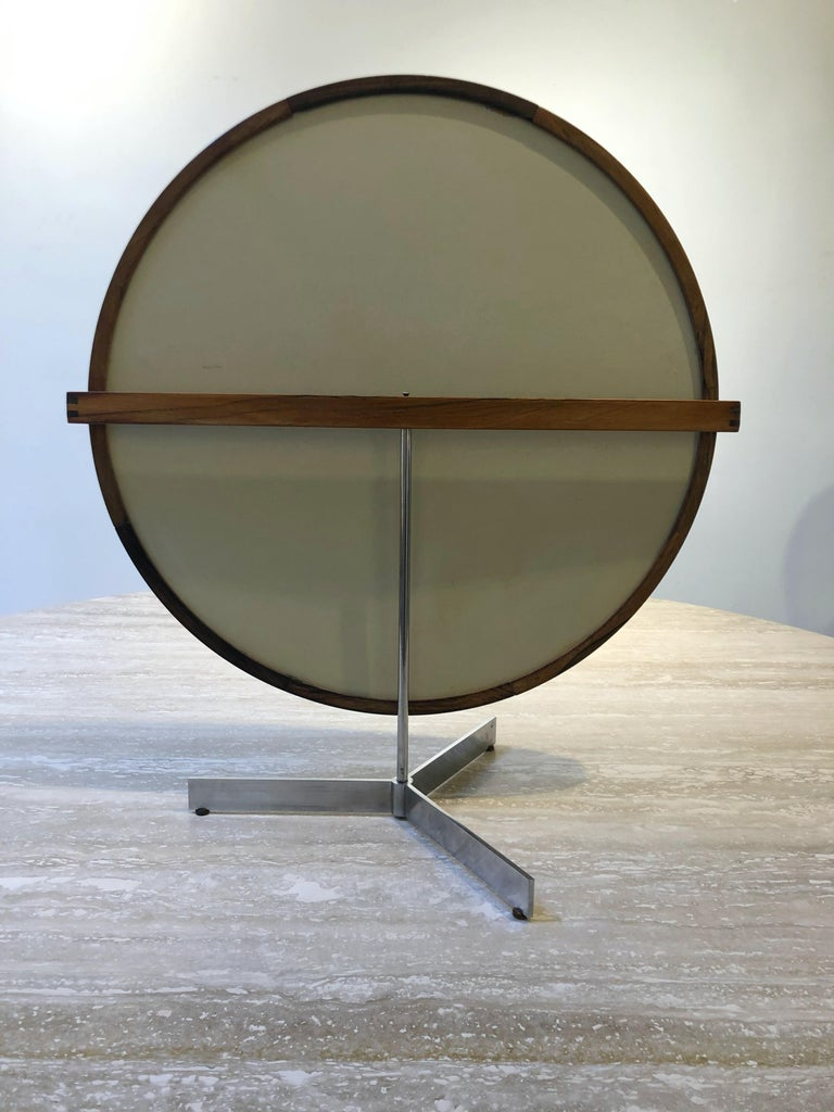 Mid-20th Century Teak Table Mirror by Uno & Östen Kristiansson for Luxus, 1960s For Sale