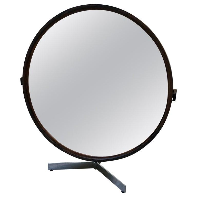 Teak Table Mirror by Uno & Östen Kristiansson for Luxus, 1960s For Sale
