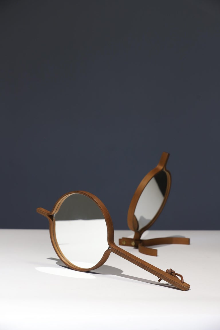 Teak Table Top and Hand Mirror by Jorgen Gammelgaard For Sale 4
