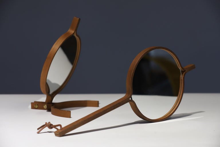 Teak Table Top and Hand Mirror by Jorgen Gammelgaard For Sale 5