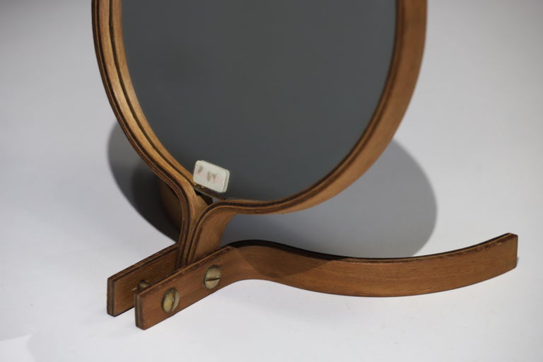 Teak Table Top and Hand Mirror by Jorgen Gammelgaard For Sale 7