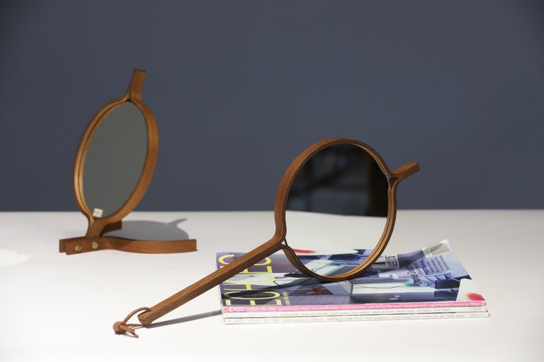 Teak Table Top and Hand Mirror by Jorgen Gammelgaard For Sale 8