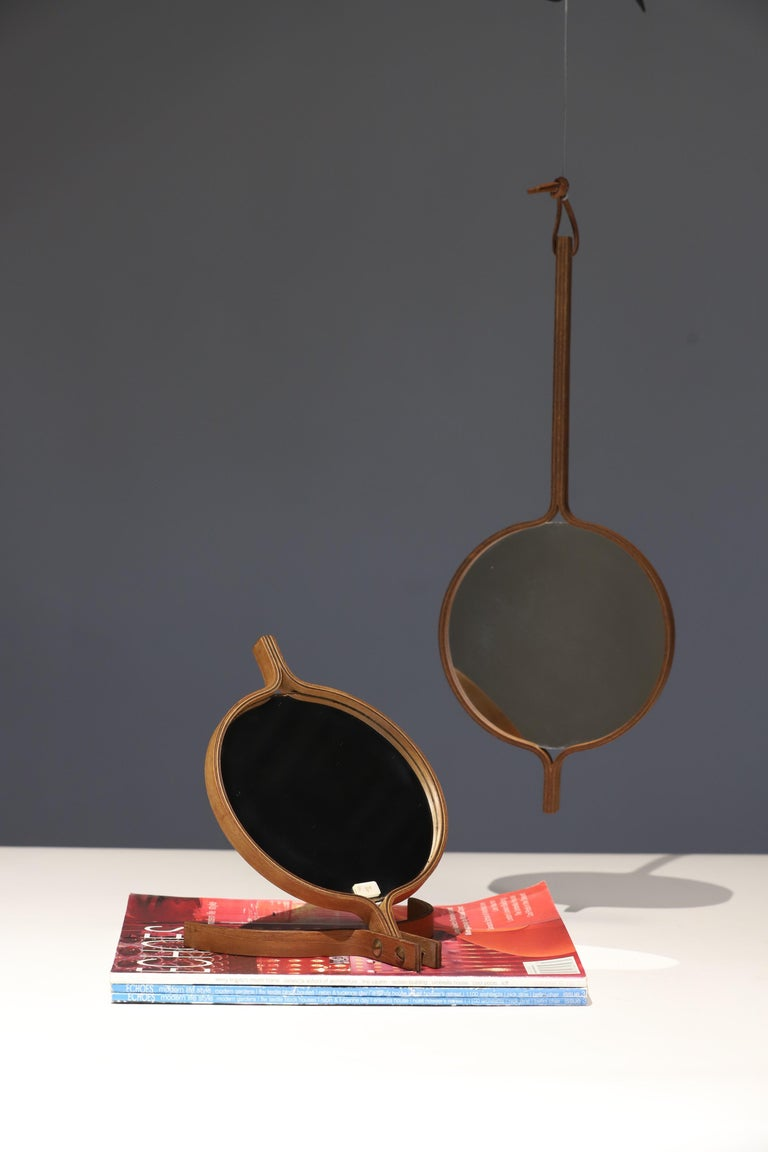 Danish Teak Table Top and Hand Mirror by Jorgen Gammelgaard For Sale