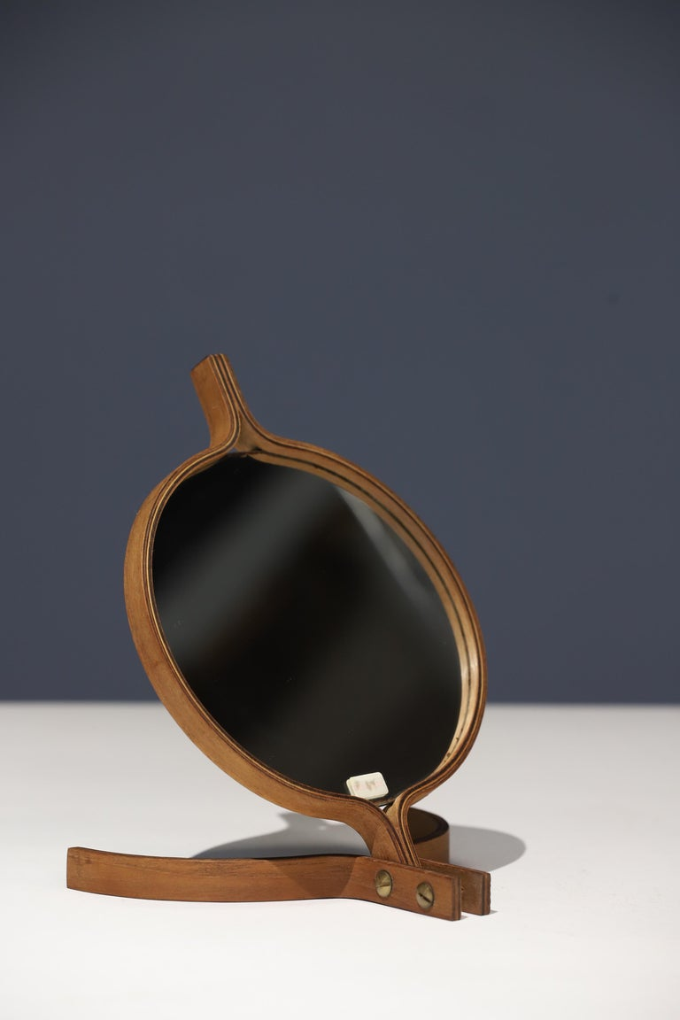 Mid-20th Century Teak Table Top and Hand Mirror by Jorgen Gammelgaard For Sale