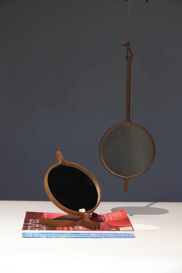 Teak Table Top and Hand Mirror by Jorgen Gammelgaard For Sale 1