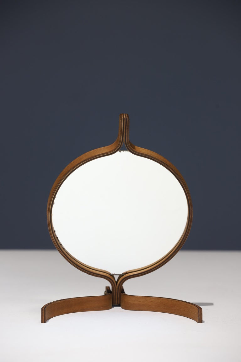 Teak Table Top and Hand Mirror by Jorgen Gammelgaard For Sale 2