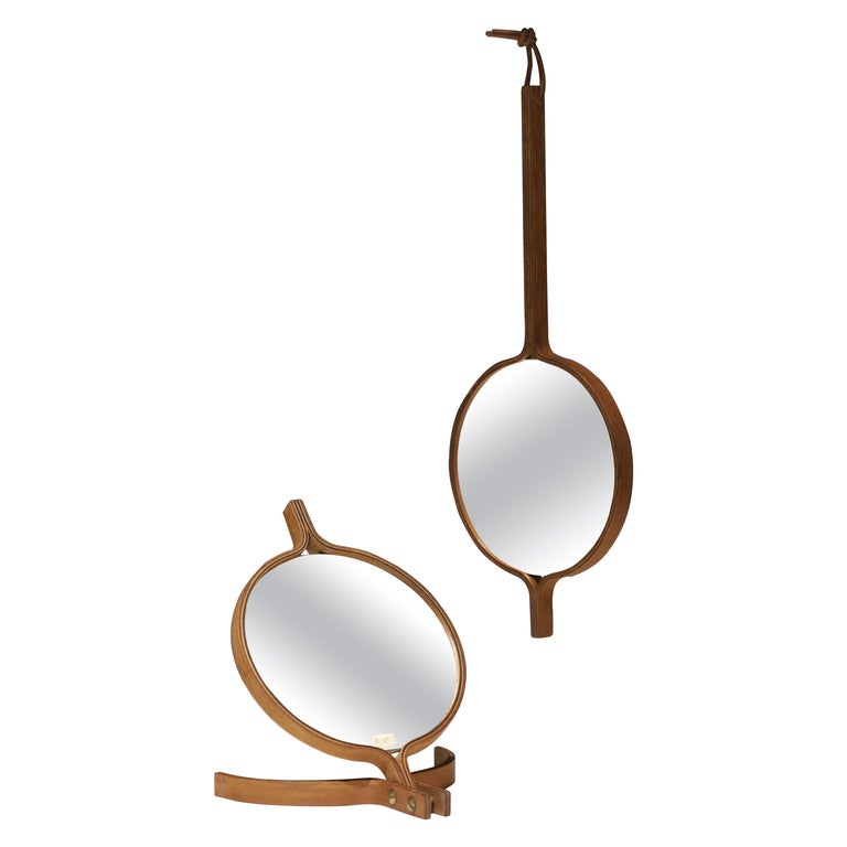 Teak Table Top and Hand Mirror by Jorgen Gammelgaard For Sale