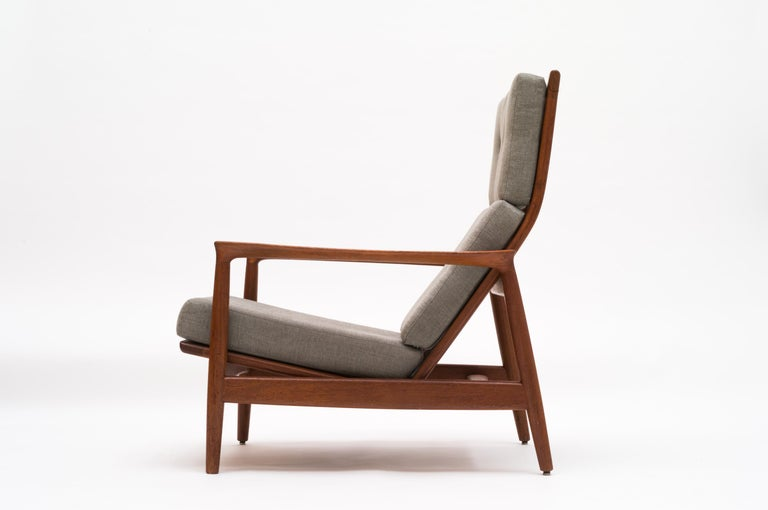 Terrific Teak Tall Back Armchair Stanford By Folke Ohlsson For Dux Sweden 1960S Machost Co Dining Chair Design Ideas Machostcouk