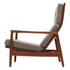 "Teak Tall Back Armchair ""Stanford"" by Folke Ohlsson for DUX, Sweden, 1960s"