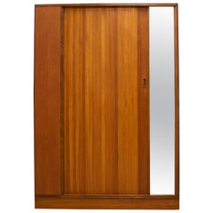 Teak Tambour Door Wardrobe by Austinsuite, 1960s